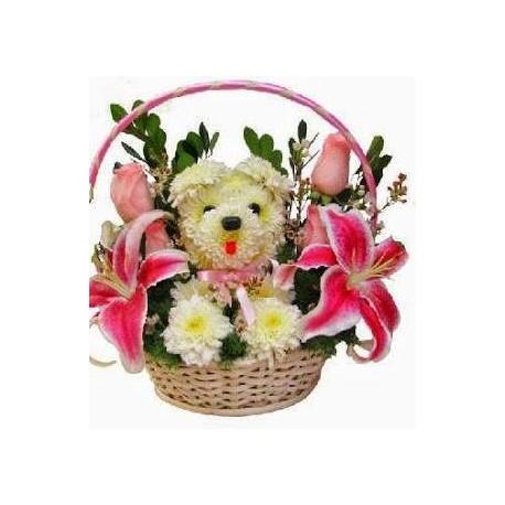 Mascota Floral 2 rosas