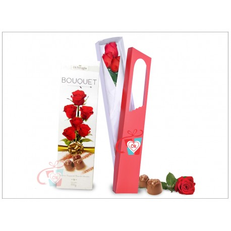 Caja de 3 rosas + Chocolate