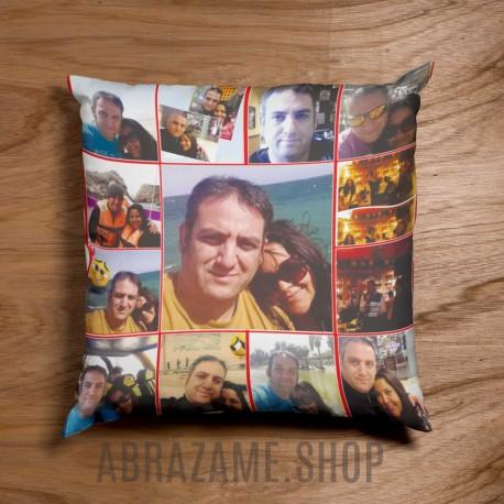 COJÍN COLLAGE ENAMORADOS 12 FOTOS