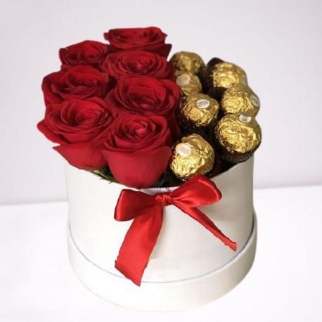BOX ROSAS Y CHOCOLATES